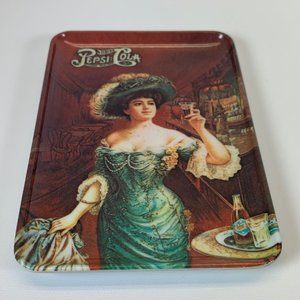 Small Pepsi tray vintage Italy woman holding glass